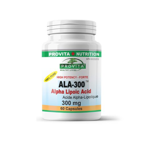 ALA-300, Alpha Lipoic Acid, antioxidant, detox, detoxification, detoxifying, diabetes, diabetics, EDTA, GMP, hepatitis, hepatoprotective, hyperglycemia, liver, liver detox, metabolic antioxidant, metabolism, nervous system, Provita Nutrition and Health, standardized product, steatosis, tired liver