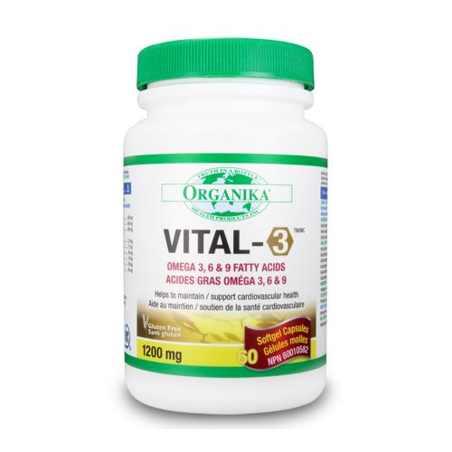 Vital 3 Omega 3 6 9 Complex Provita Nutrition Canada
