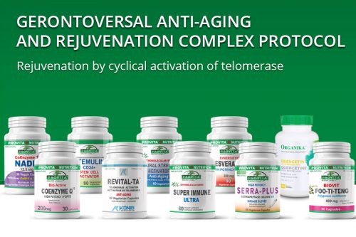 Gerontoversal anti-aging and rejuvenation complex protocol